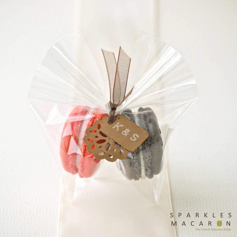 Clear Bag with Tag Macaron Favor Set of 30 by SparklesMacaron, via ...