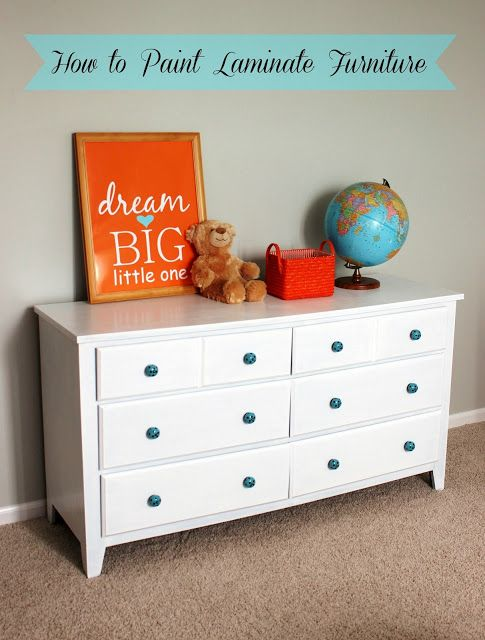 laminate furniture makeover. Delightfully Noted: Old Dresser Makeover: How To Paint Laminate Furniture Makeover I