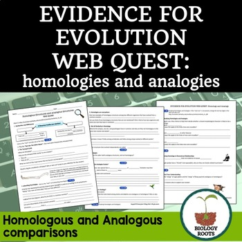 Evolution Homologous And Analogous Structures Web Quest Distance Learning In 2021 Distance Learning Evolution Homology And Analogy