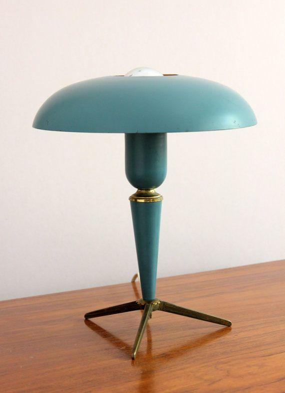 Vintage Philips Louis Kalff Milieu Lampe De Bureau De Siecle De 1950 Lamp Desk Lamp Mid Century Desk