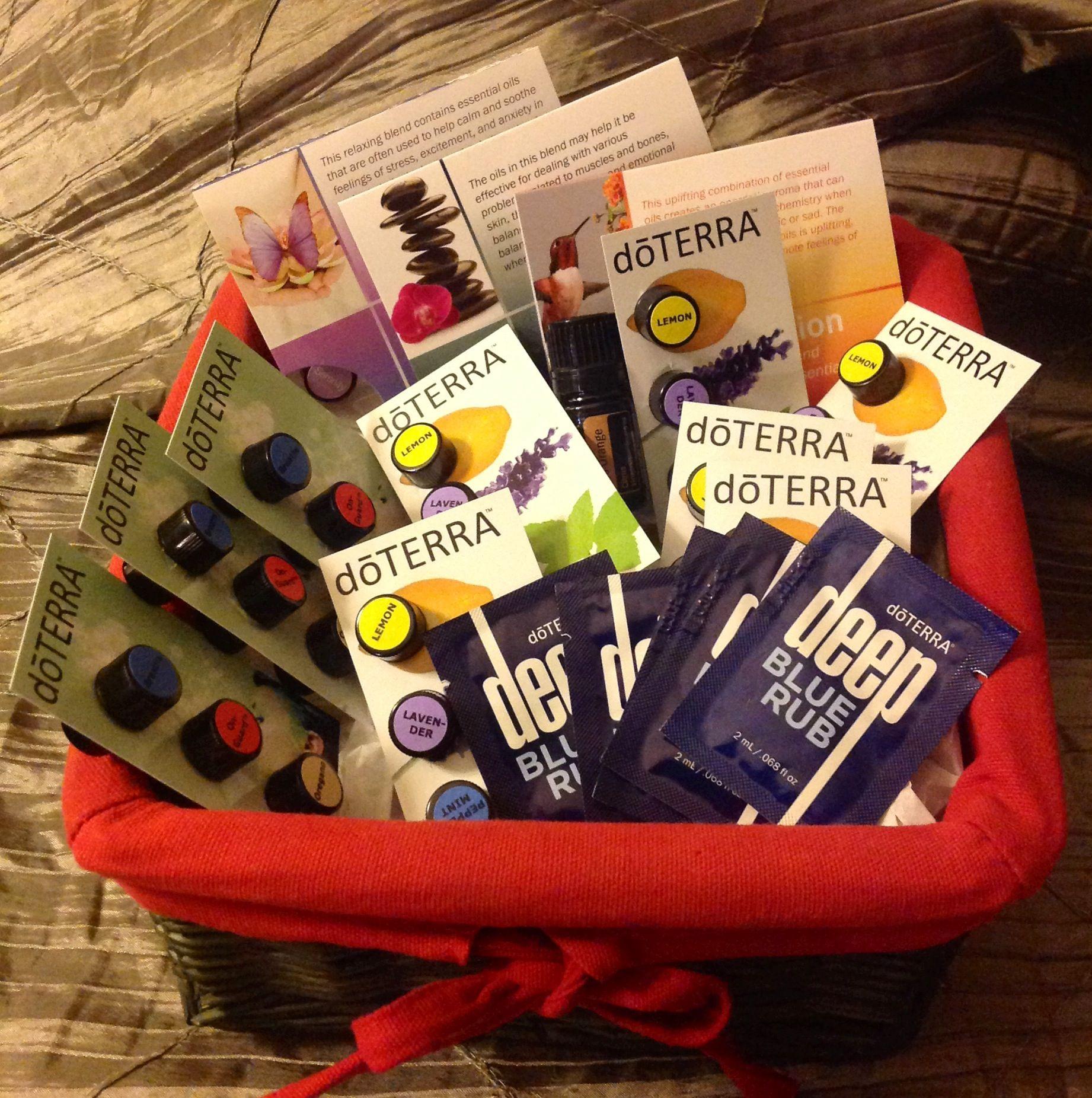 My basket of samples / mi cesta de muestras doTERRA