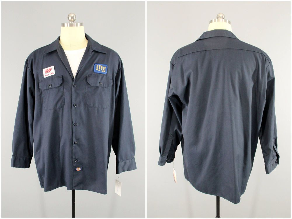 0c2c1742 Miller Beer, Men's L/S Shirt, Delivery Driver, Beer Patch, Dickies Work  Shirt XL #Dickies #WorkShirt