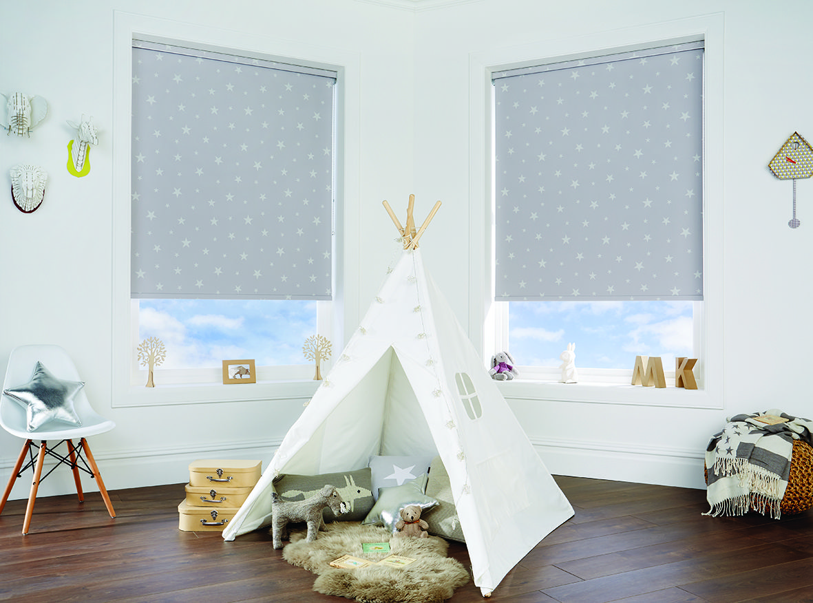 Child S Playroom With Teepee And Child Safe Roller Blinds