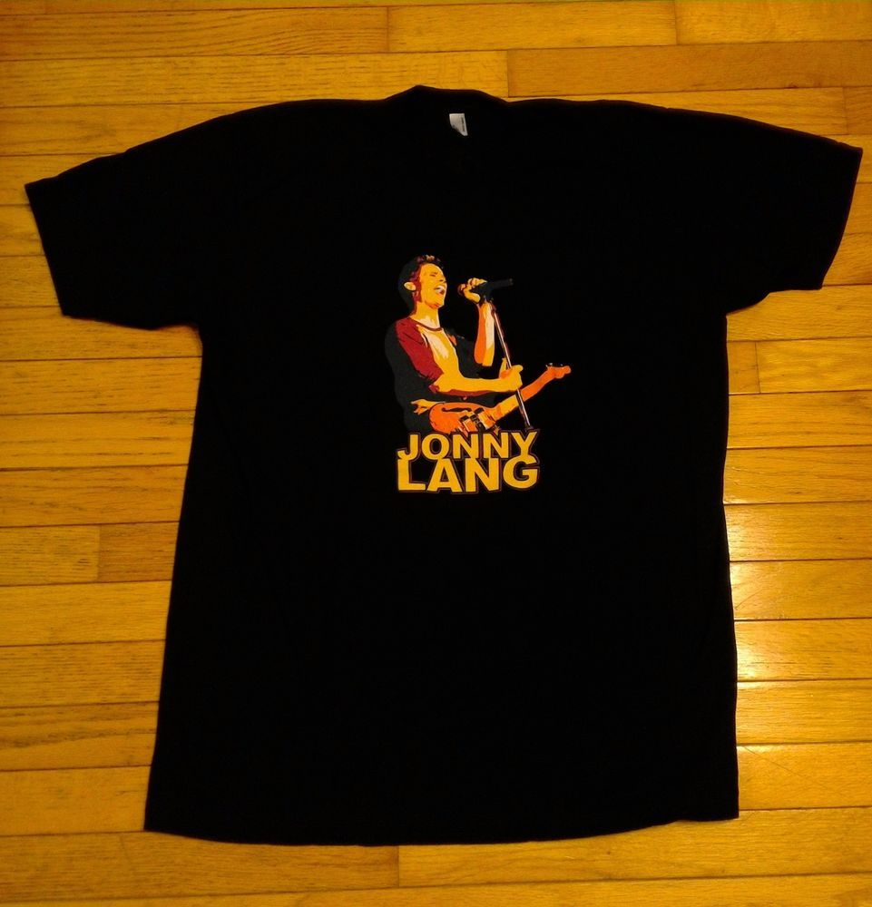 79f572f55 Mens Graphic Tee T-Shirt Size XL Extra Large JONNY LANG Guitar Music # AmericanApparel