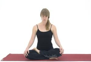 try half lotus if full pose is too intense  seated yoga