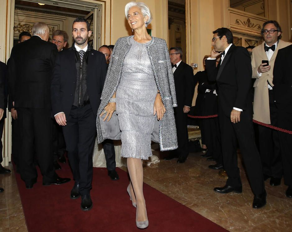 Christine LaGarde stylish in silver | Chic People in 2019 | Stylish