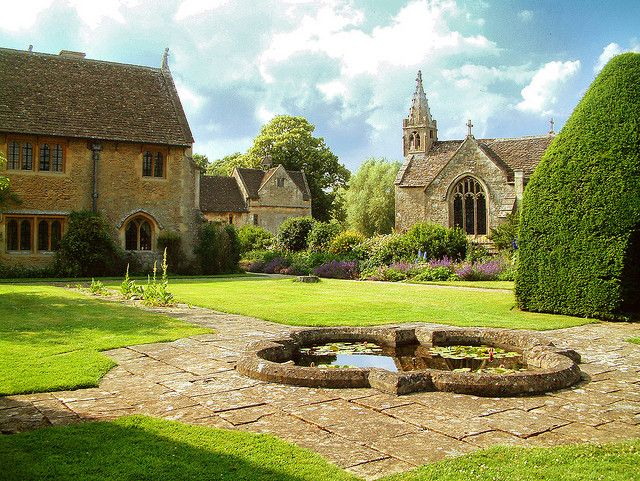 Great Chalfield Manor and church in Wiltshire