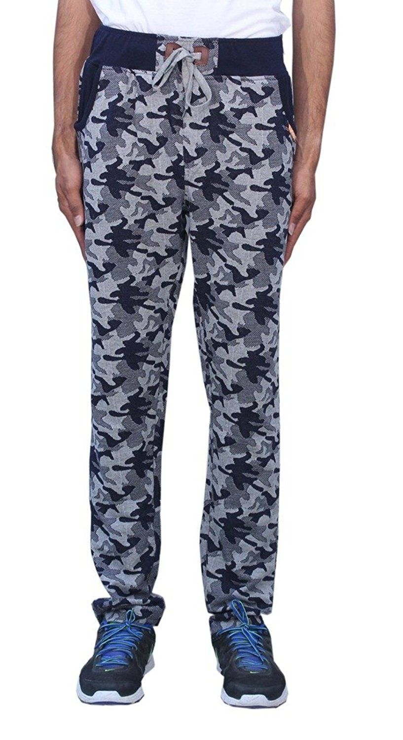 Romano Men's Trendy  Sporty Look Multi-Coloured Fleece Track Pant -- Click image to review more details.