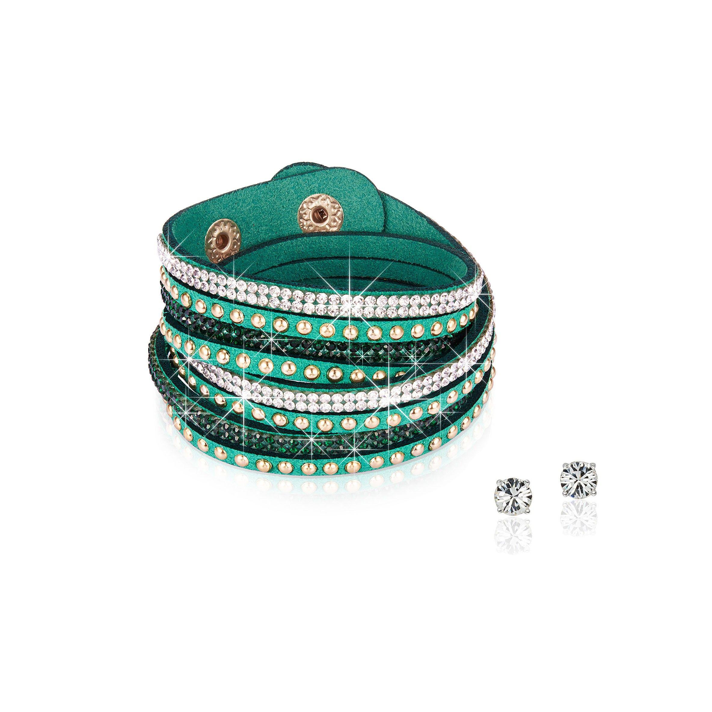 cel mai bun ieftin cele mai ieftine pe picioare imagini din Set Rafaela Donata Străluciri Senzuale Verde Smarald (cercei ...