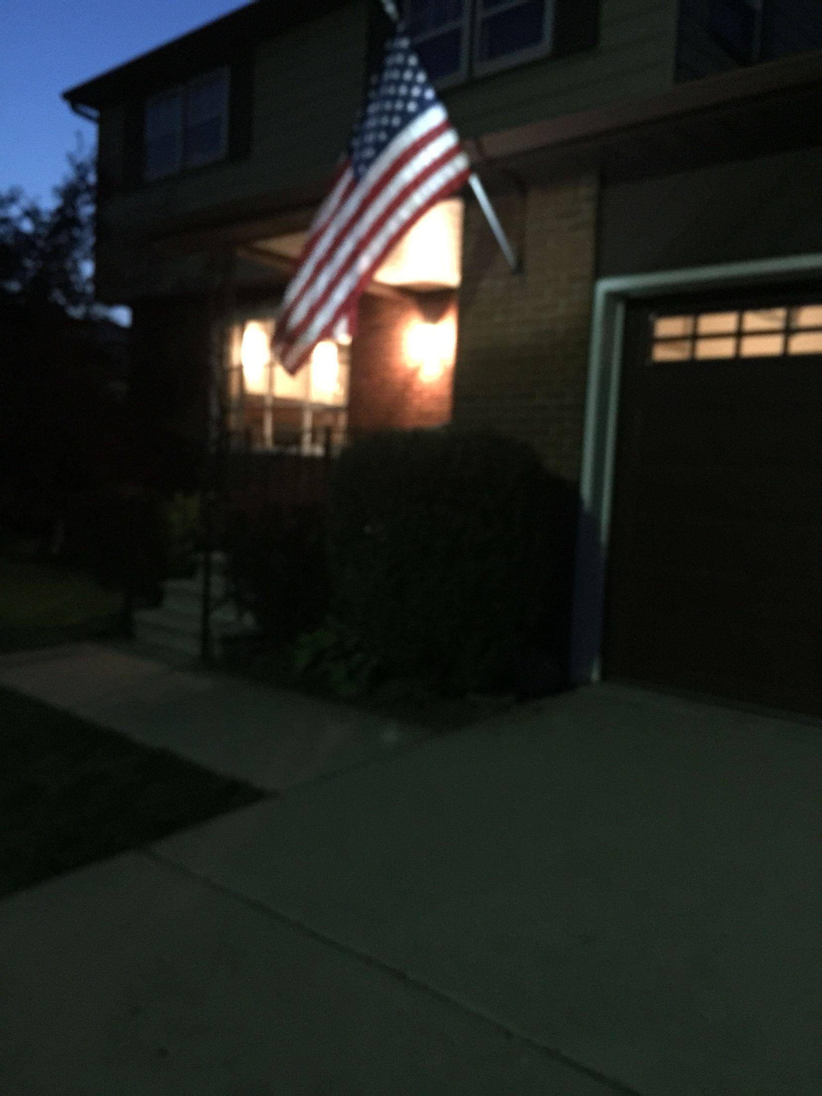 solar flag light love it patio