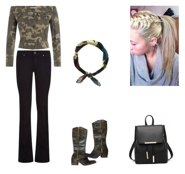 """Green camo"" by lorelai-grant on Polyvore featuring Faith Connexion, Paige Denim, Donald J Pliner and New Look"