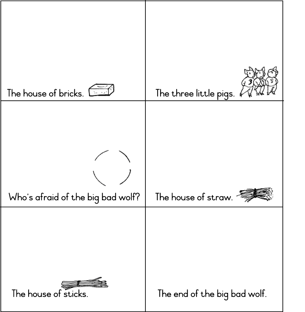 writing activities for the three little pigs