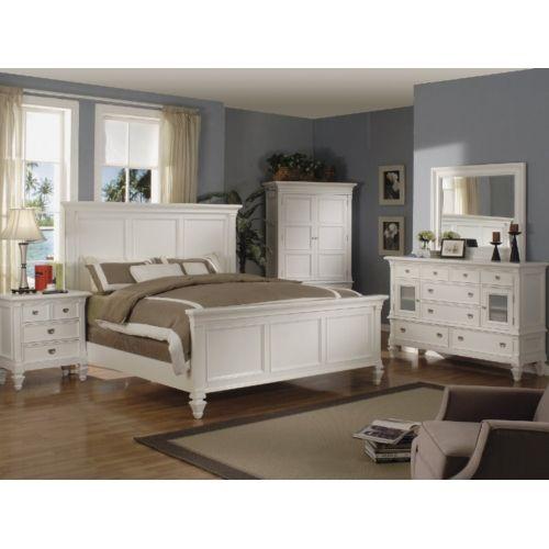 Summer Breeze Queen White Panel Bedroom Suite Hom Furniture White Paneling White Bedroom Set Furniture White Bedroom Set