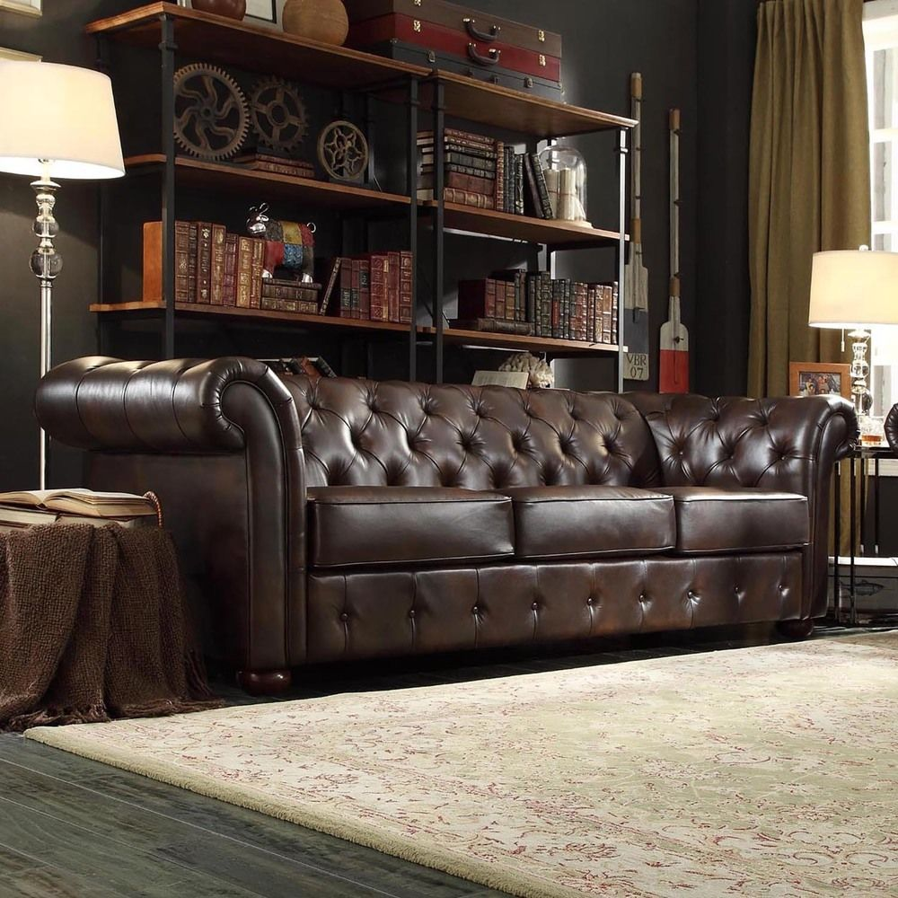 Best Knightsbridge Tufted Scroll Arm Chesterfield Sofa By 400 x 300