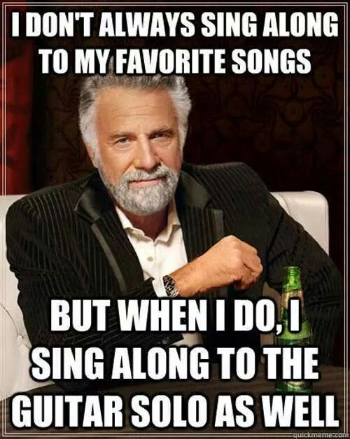 When I sing ..
