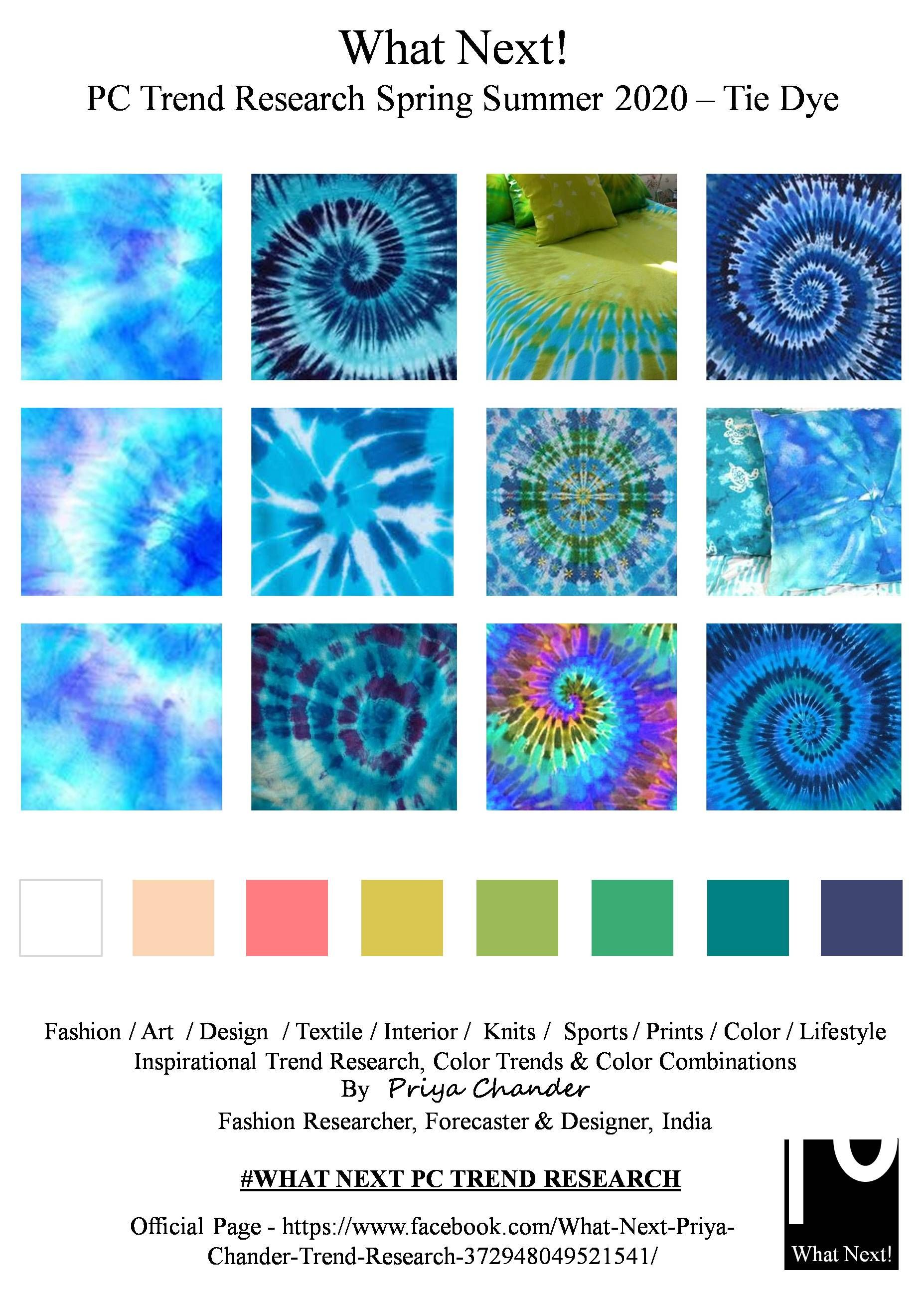 Spring 2020 Color Trends.Tie Dye Prints In 2019 Spring Fashion Trends 2020 Fashion