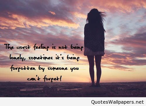 Feeling So Lonely Wallpaper Girl With Quote Wwwquotespicsnet