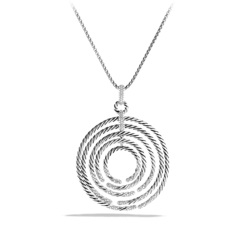 David Yurman Willow Pendant with Diamonds