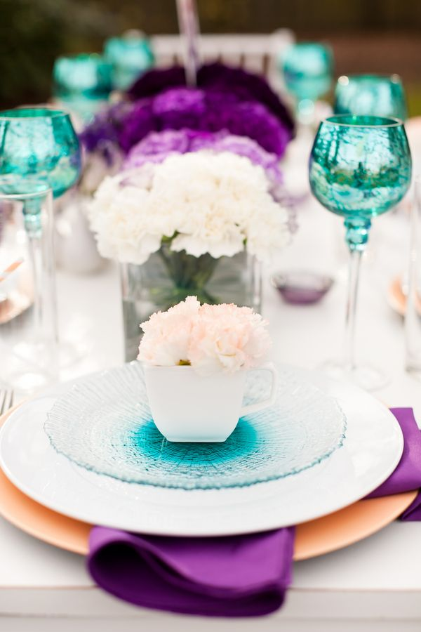 Purple Ombre Wedding Ideas | Purple teal, Teal and Aqua