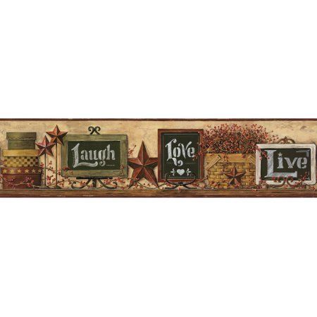 Country Keepsakes Country Chalkboard Shelf Border