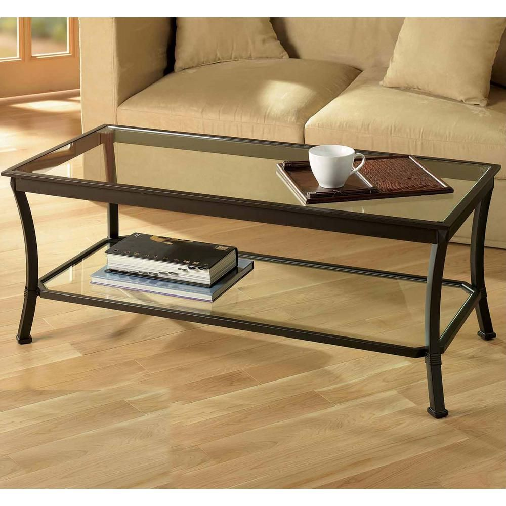 Z Line Designs Mendocino Clear And Deep Bronze Black Coffee Table