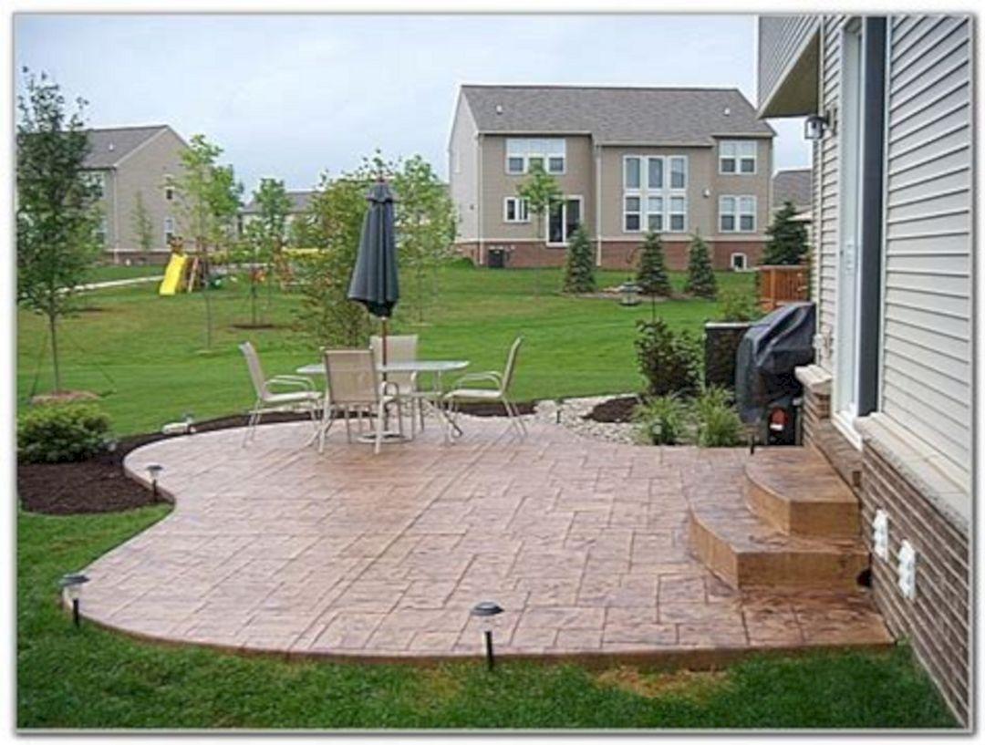 Inspiring Impressive 25 Stamped Concrete Patio For Inspiration For Your Home Https Freshouz C Concrete Patio Designs Concrete Backyard Poured Concrete Patio