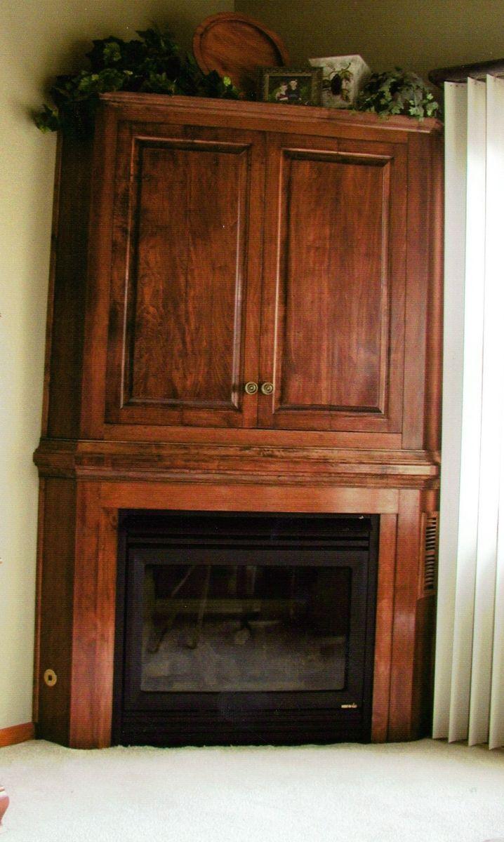 Corner Fireplace Entertainment Cabinet Handmade Corner
