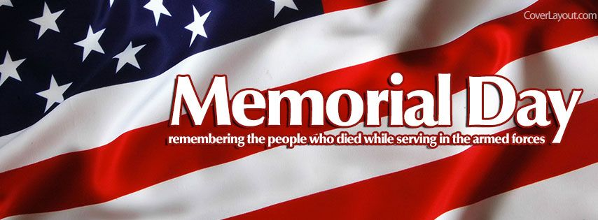 Memorial Day Remembering The People Who Died Facebook Cover
