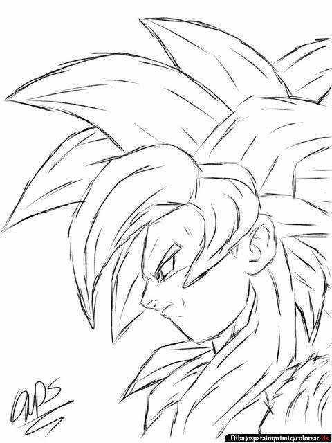 Dibujos De Dragon Ball Gt Para Imprimir Y Colorear Com Imagens