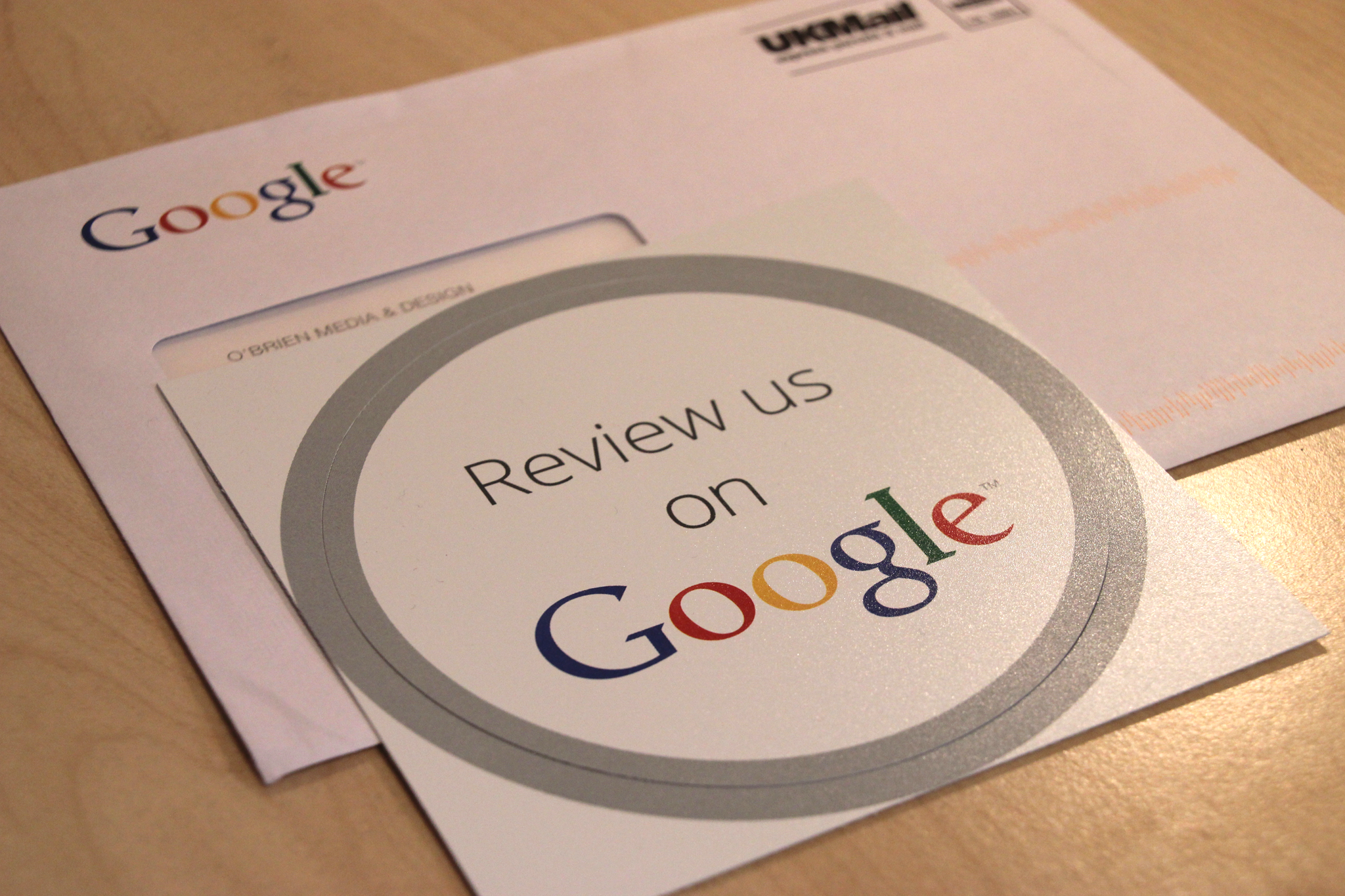 Google Are Sending Out Review Us On Google Window Stickers To Verified Businesses With A Google Page Great To E Window Stickers Church Design Google Page