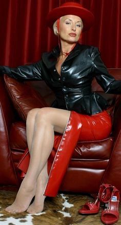 mature leather domme