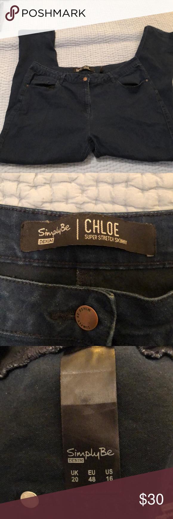 6cd192b20e SimplyBe Chloe Super Stretch Skinny Jeans Stretchy, lightweight ...