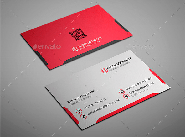 simple and clean business card design template graphic and