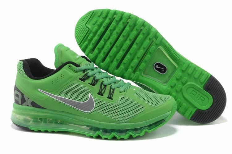 new concept de521 8623a New Mens Nike Air Max+ 2013 Running Apple Green Shoes