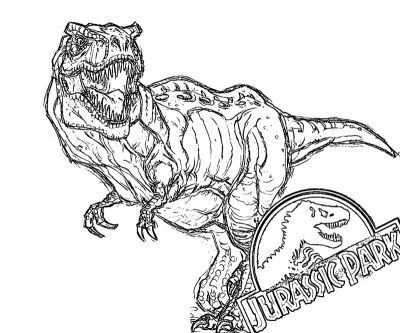 Printable Jurassic Park 13 Coloring Page Dinosaurs Throughout Design 14 Jurassic Park Tiranossauro Colorir