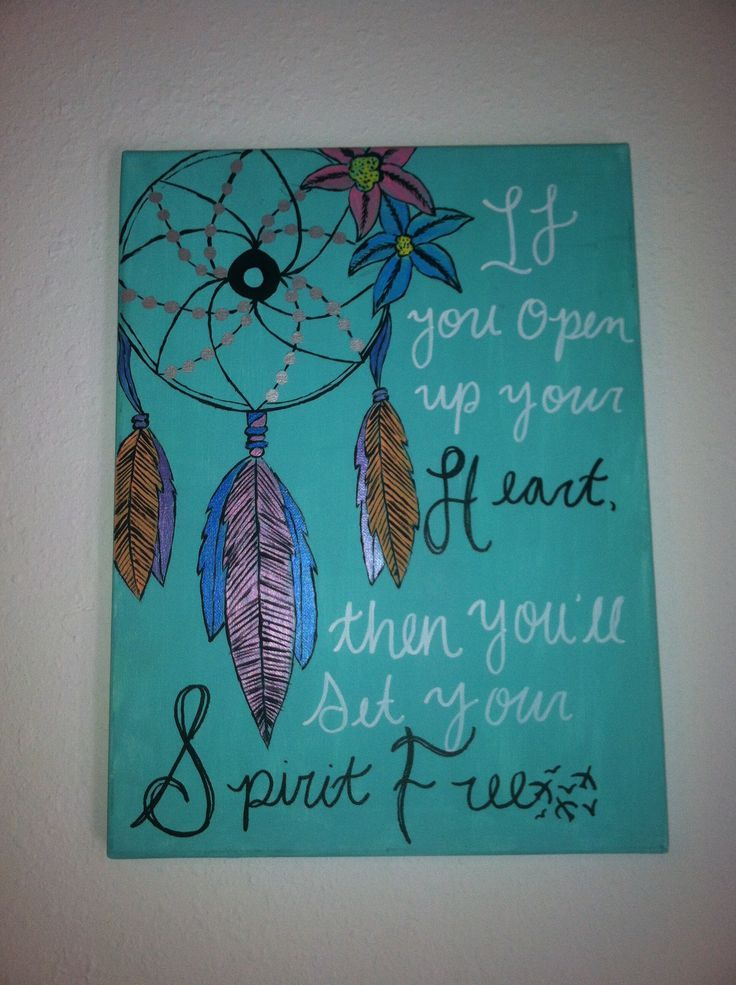 Inspirational quotes on canvas diy quotesgram for Inspirational art project ideas