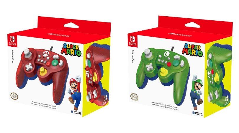 Angebot Hori Nintendo Switch Battle Pad Controller Im Gamecube Stil In Den Varianten Mario Luigi Nintendo Switch Fur Je 17 Film Vorbesteller Ninte