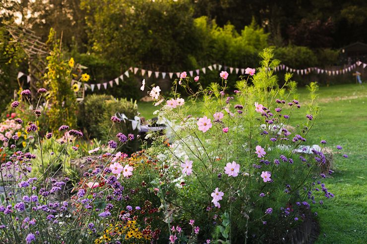 an outdoor, laid-back garden wedding with so many incredible details | uk wedding blog