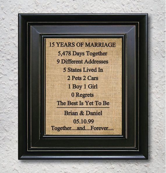Burlap Art Print 15th Anniversary Gift 15 Year By Burlapartprint