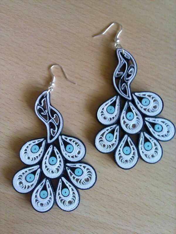 quilling earnings my quilling paper quilling earrings quilling rh pinterest com paper quilling jewellery box