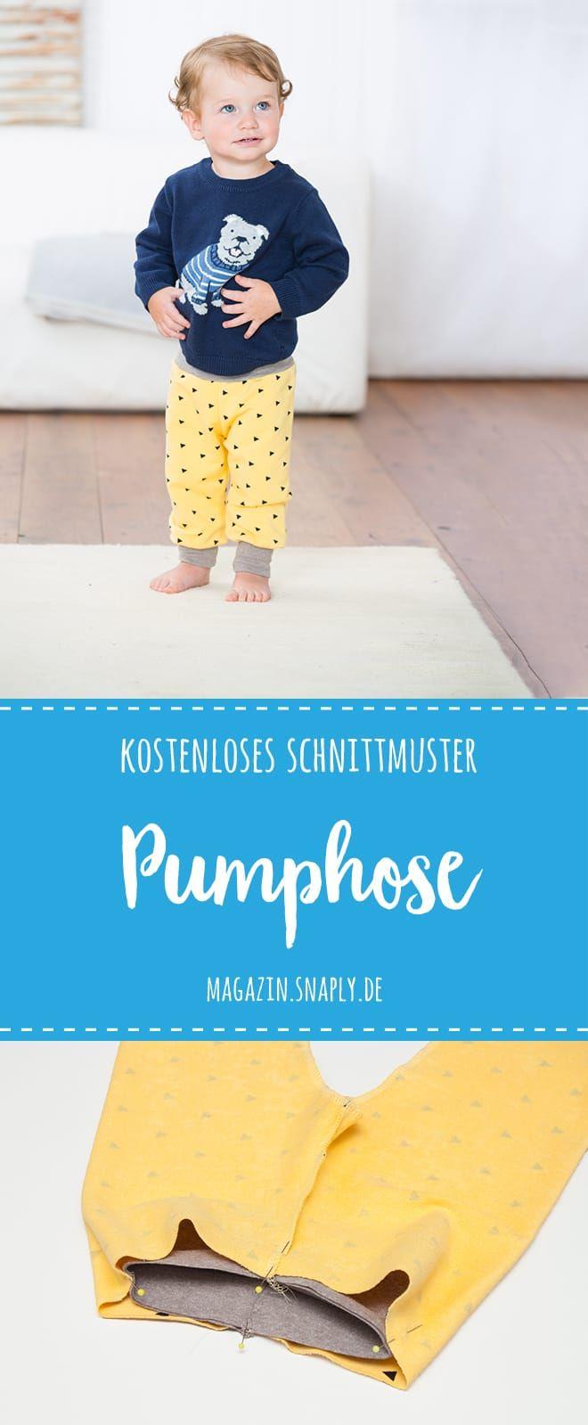 Kostenloses Schnittmuster: Pumphose für Babies und Kleinkinder #clothpatterns