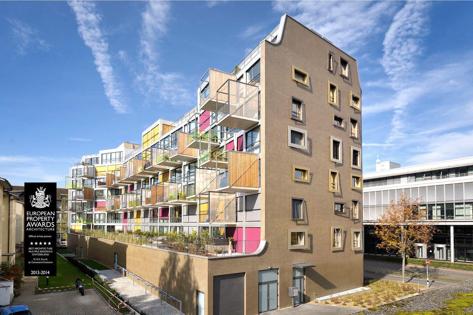K.I.S.S. Apartment Building By Camenzind Evolution, Zurich