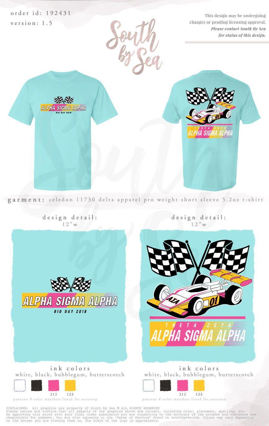 b275129a Alpha Sigma Alpha | ASA | Racing Bid Day Theme | South by Sea | Greek T- Shirts | Custom Greek Apparel | Sorority T-Shirts