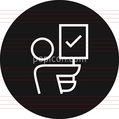 Person Holding Picket Sign Outline Icon Icon Outline Picket Signs