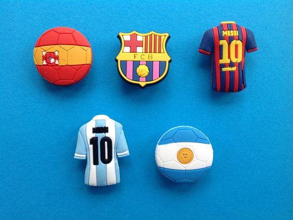 2 Real Madrid Football Badges Logos jibbitz croc shoe loom charms cake toppers