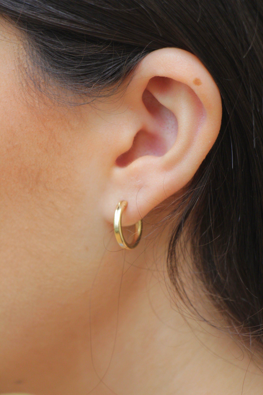 47c910bde2edb 14K Gold Filled Hoops, 15mm - 45mm circle Hoop Earrings, Small ...