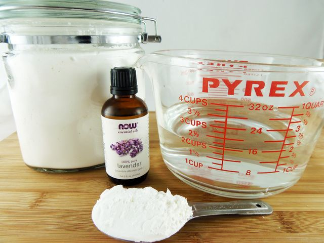 Use cornflour to Make Your Own Spray Starch