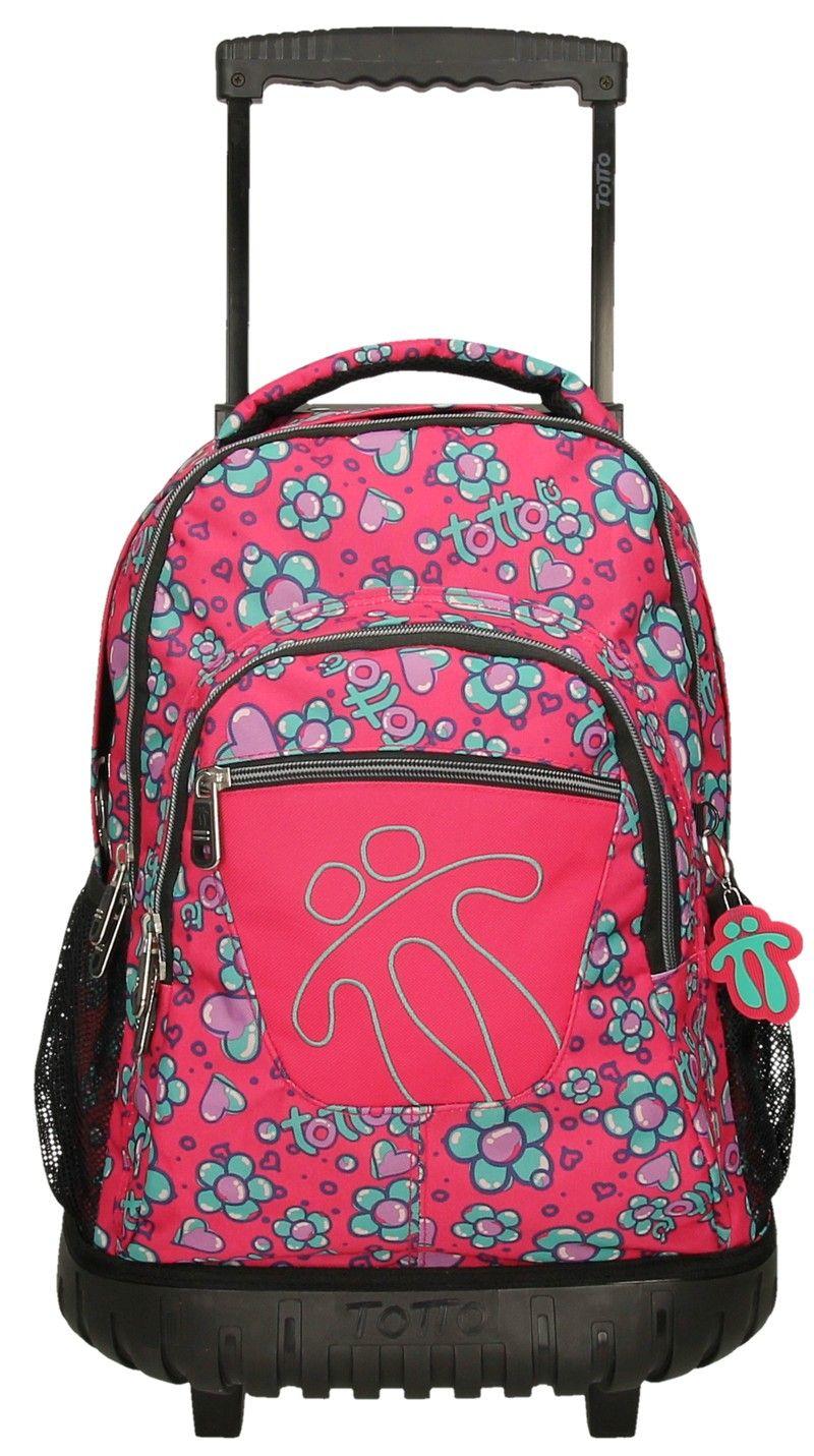 8pd es el modelo de esta magnifica mochila Totto con ruedas se puede llevar también a