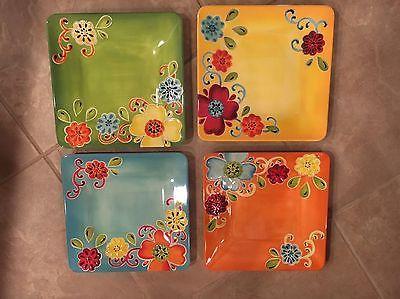 Laurie Gates Garden Party - 12 Piece Melamine Dinnerware Set In Box & Laurie Gates Garden Party - 12 Piece Melamine Dinnerware Set In Box ...