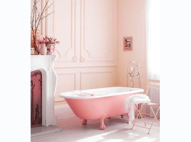Salle de bains rose ultra féminine | La vie en rose poudré ...